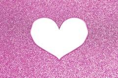 Brilho colorido abstrato com quadro do coração Imagens de Stock