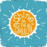 Brilho como o sol ilustração royalty free