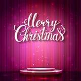 Brilho cor-de-rosa fundo glimered para a festa de Natal da celebração Fotografia de Stock Royalty Free