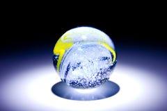 Brilho de mármore na obscuridade Foto de Stock Royalty Free