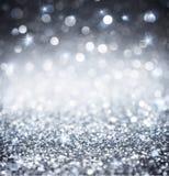 Brilho de prata - brilhante para o Natal Fotografia de Stock