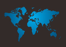 Brilho do mapa de mundo Fotografia de Stock Royalty Free