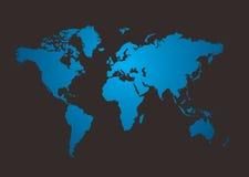 Brilho do mapa de mundo Fotografia de Stock Royalty Free