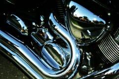Brilho do motor da bicicleta Fotografia de Stock