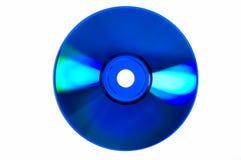 Brilhos coloridos brilhantes em CD/DVD azul fotografia de stock royalty free