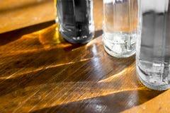 Brilhos e reflexões com as garrafas Fotografia de Stock