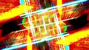 Briljant bakgrund för rörelse för neonljus stock video