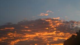 Briljant himmel i Oshkosh, Wisconsin arkivbilder