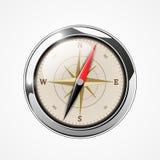 Briljant kompass med windrose Fotografering för Bildbyråer