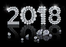 Briljant nytt år 2018 Fotografering för Bildbyråer