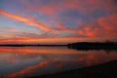Briljant solnedgång Arkivfoton