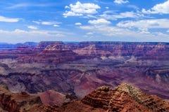 Briljanta röda klippor av den östliga Grand Canyon Royaltyfri Fotografi