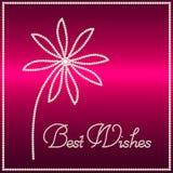 Briljante bloem met Beste wensen Royalty-vrije Stock Foto