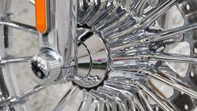 Briljante chroommotorfiets Royalty-vrije Stock Afbeeldingen
