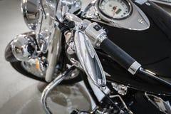 Briljante chroommotorfiets Stock Afbeeldingen