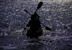 Briljante Kayaking Royalty-vrije Stock Foto
