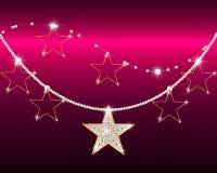 Briljante ketting met gouden sterren Royalty-vrije Stock Foto
