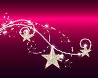 Briljante krullen met sterren Royalty-vrije Stock Foto