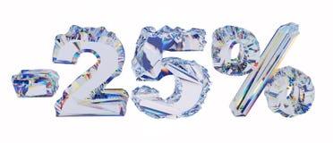 Briljante percenten die op wit worden geïsoleerd Royalty-vrije Stock Afbeeldingen