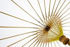Briljante witte tropische paraplu royalty-vrije stock afbeelding