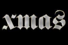 Briljante woordKerstmis op zwarte achtergrond vector illustratie