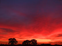 Briljante zonsondergang Royalty-vrije Stock Afbeelding