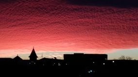 Briljante Zonsondergang Stock Afbeeldingen