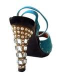 briljanten shoes kvinnan Arkivbild