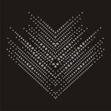 Briljanten stenar pilsicksackmodellen för halsbandarmband Härlig smyckenbrosch vektor illustrationer