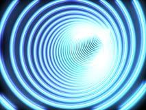 A brillé un tunnel de couleur bleu-foncé Images libres de droits