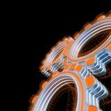Brillando intensamente tres engranajes digitales libre illustration