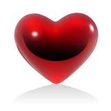 brillant rouge de coeur Photos stock