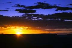 Brillant zmierzch przy Uroczystego jaru parkiem narodowym, Arizona Fotografia Royalty Free