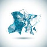 Brillante colorido geométrico polivinílico bajo abstracto Fotos de archivo libres de regalías