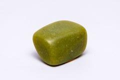 Brillante prezioso minerale del gioiello della gemma della pietra preziosa di verde verde oliva Fotografia Stock Libera da Diritti