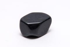 Brillante prezioso minerale della pietra preziosa del gioiello nero della gemma Fotografia Stock Libera da Diritti