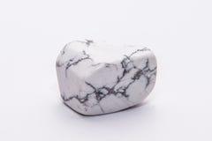 Brillante prezioso minerale della pietra preziosa del gioiello a strisce nero bianco della gemma Fotografie Stock