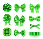 Brillantemente diversos arcos del verde con las cintas stock de ilustración