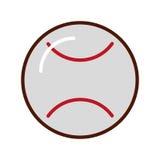 Brillantemente historieta del béisbol ilustración del vector