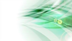 Brillantes verdes abstractos alisan la animación del vídeo de las ondas