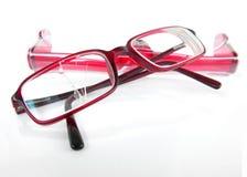 Brillen mit unterbrochenem Objektiv Stockfotos