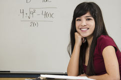 Brilliant Asian Math Student Stock Photography