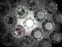 Brilliant background. 3d diamond luxury and rich background Stock Photography
