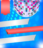 Brilliant background with disco ball Royalty Free Stock Photo