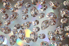 Brilliant background with stones like diamonds Royalty Free Stock Photography