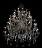 Brilliant baroque chandelier on black Stock Photography