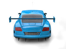 Brilliant blue modern sports car - back view Stock Images