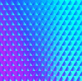 Brilliant blue pink pattern of triangles Stock Photos
