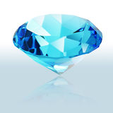 Brilliant blue shiny diamond Royalty Free Stock Photo