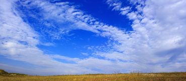 Brilliant blue sky Royalty Free Stock Images